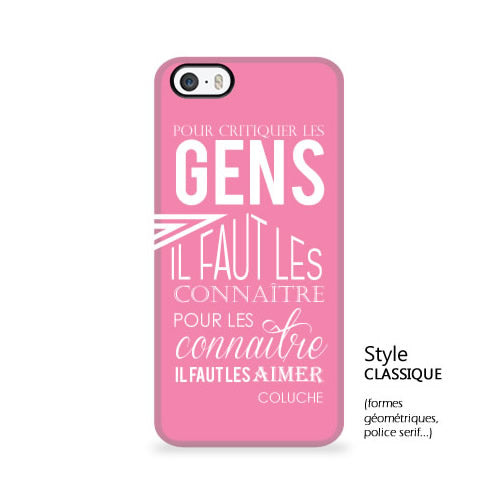 coque iphone 5 texte