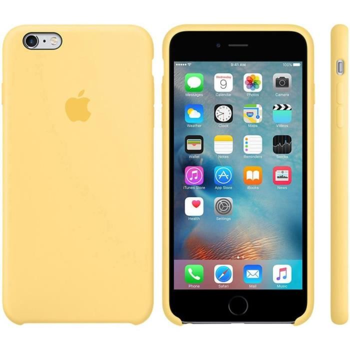 coque 20iphone 206 20plus 20apple 20jaune 415uyk 700x