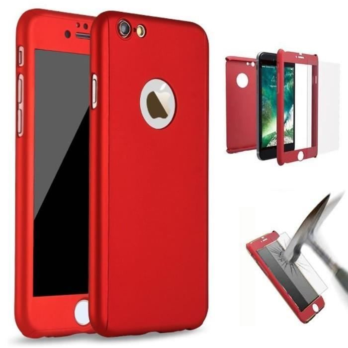 coque iphone 7 bumper rouge