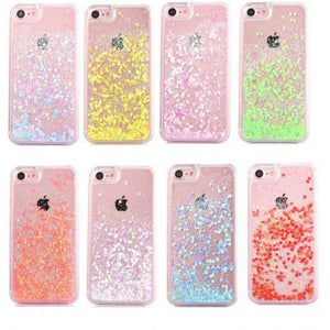 coque iphone 7 transparent paillette