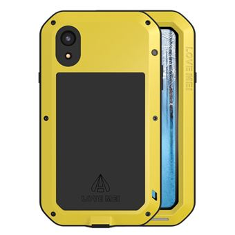 coque iphone xr antichoc jaune