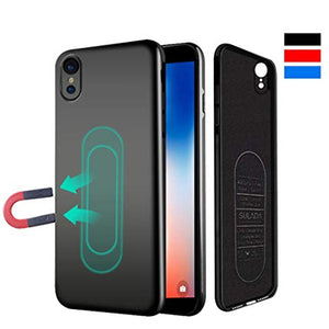 coque iphone xr avec support magnetique