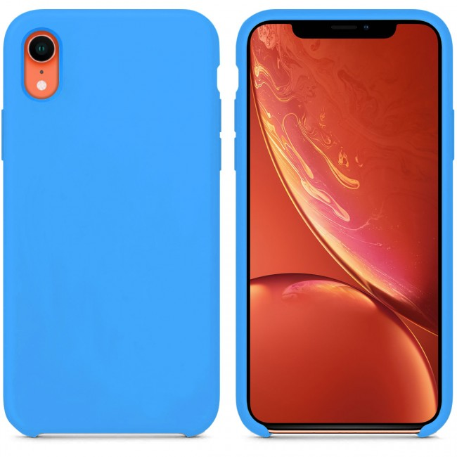 coque iphone xr bleue