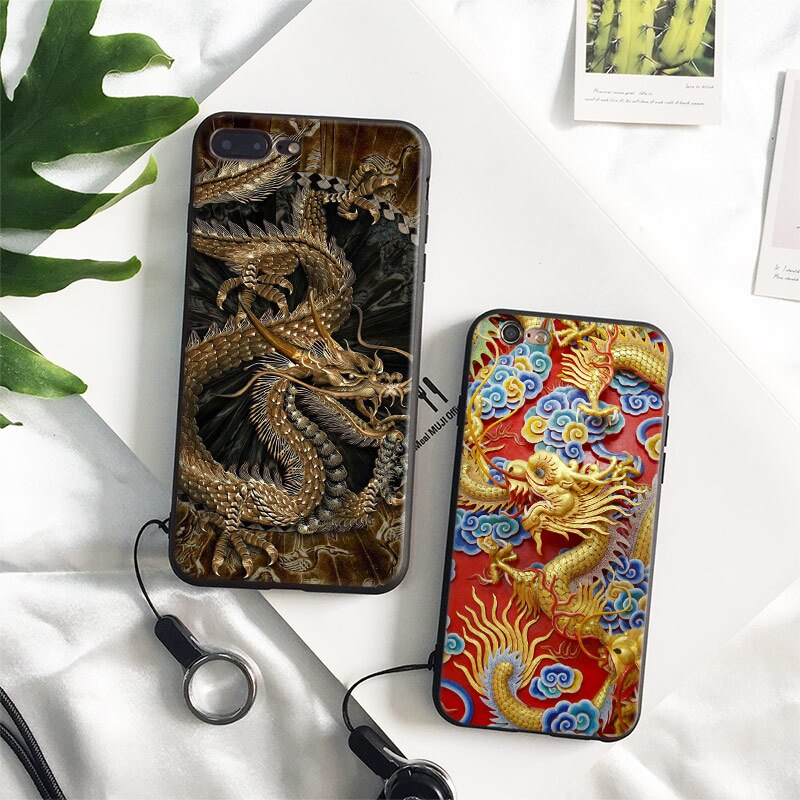 coque iphone xr dragon chinois