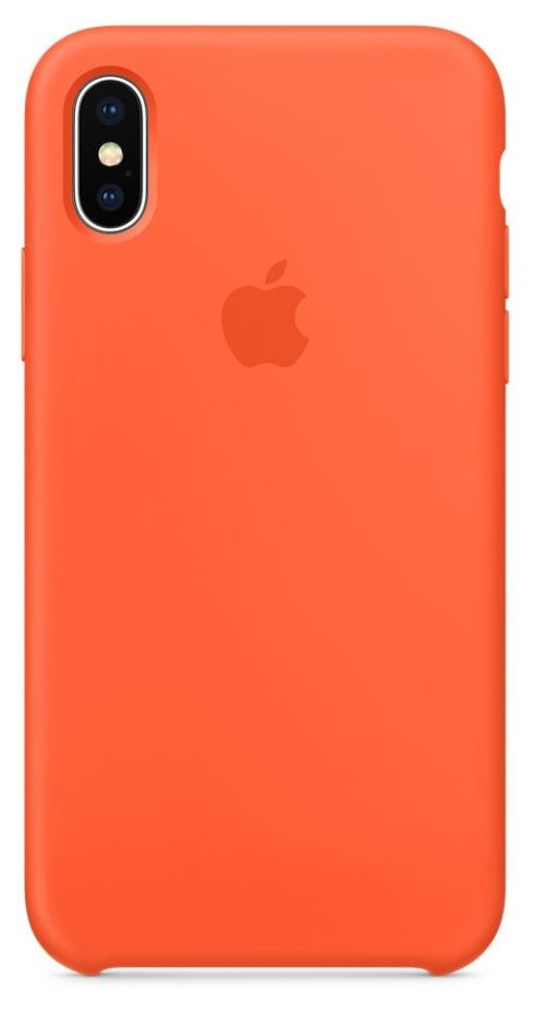 coque iphone xr orange silicone