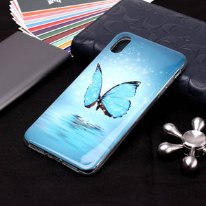 coque iphone xr papillon bleu