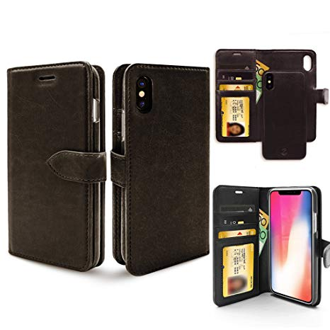 coque iphone xr portefeuille detachable