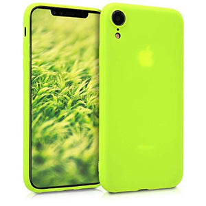 coque iphone xr silicone jaune fluo