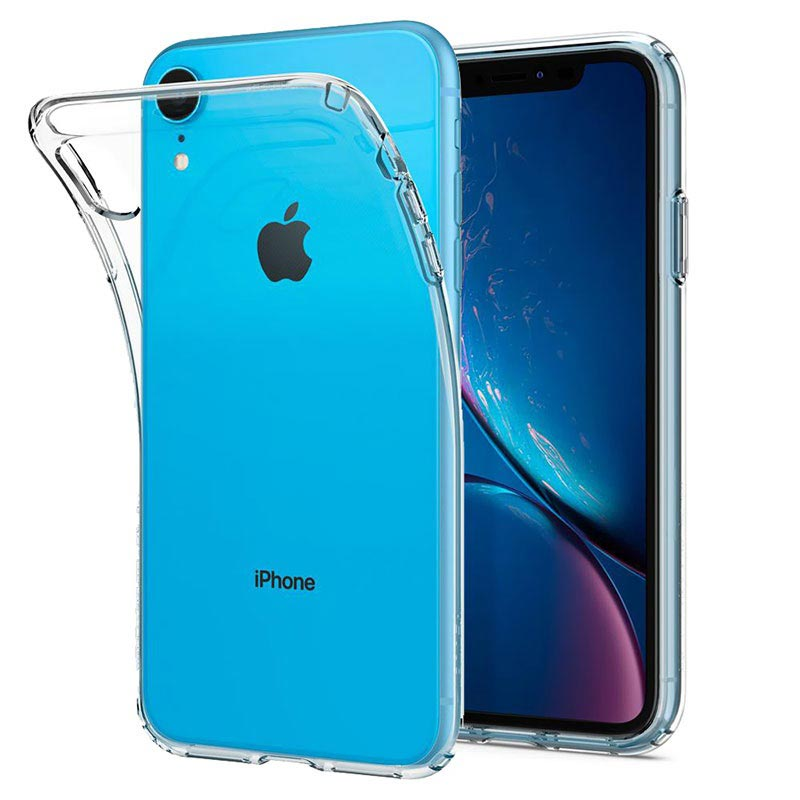 coque iphone xr spigen liquid crystal