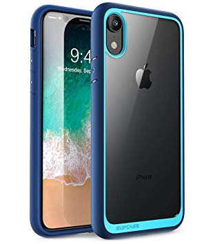 coque iphone xr transparente bleu