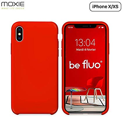 coque iphone xs fine rouge