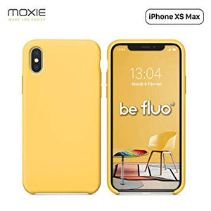coque iphone xs jaune silicone