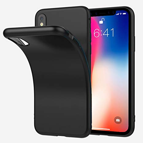 coque iphone xs noire silicone