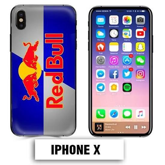 coque iphone xs red bull