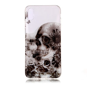 coque iphone xs tete de mort