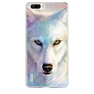 coque silicone huawei p8 lite 2017 loup