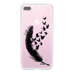 coque plume iphone 7 plus