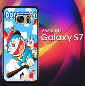 Doraemon Wallpaper X4292 coque Samsung Galaxy S7