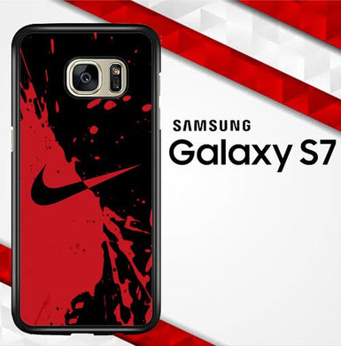 Nike Red and Black X4356 coque Samsung Galaxy S7