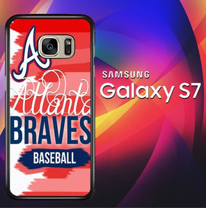 Atlanta Braves baseball X4994 coque Samsung Galaxy S7