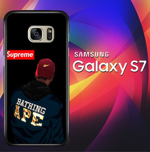 Bathing ape Supreme X5749 coque Samsung Galaxy S7