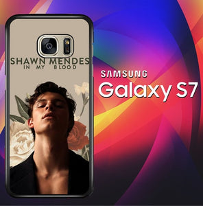 Shawn Mendes In My Blood X8602 coque Samsung Galaxy S7