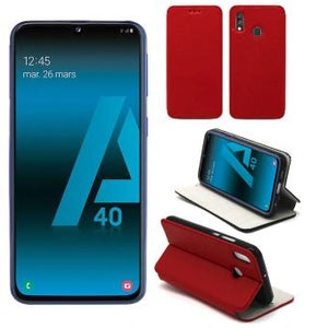 galaxy a40 coque rouge