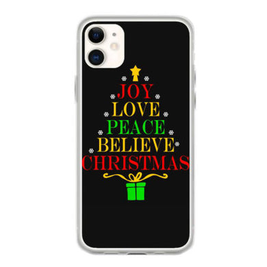 joy love peace believe christmas t shirt coque iphone 11
