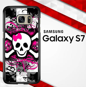 Girly Skull Y1291 coque Samsung Galaxy S7