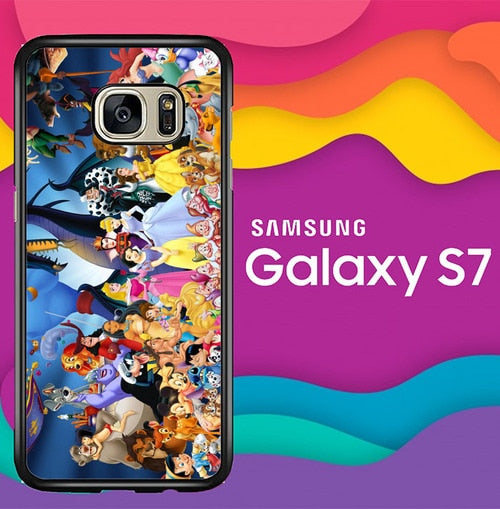 disney all characters W8804 coque Samsung Galaxy S7