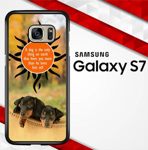 Dachshund Dog Y2781  coque Samsung Galaxy S7