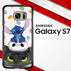 Stitch Baymax Toothless E0275 coque Samsung Galaxy S7