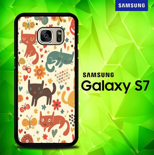 cartoon cat - pattern E1136 coque Samsung Galaxy S7