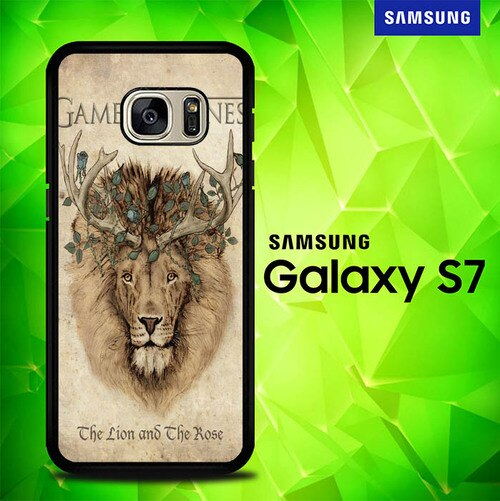 Game Of Thrones Movies Lion Flowers E1173 coque Samsung Galaxy S7