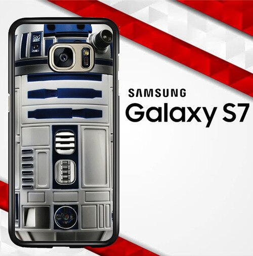 Blue R2d2 Star Wars E1217 coque Samsung Galaxy S7