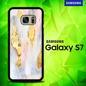 Pastel Marble Gold E1402 coque Samsung Galaxy S7