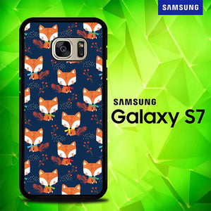 Fox Autumn Pattern E1478 coque Samsung Galaxy S7
