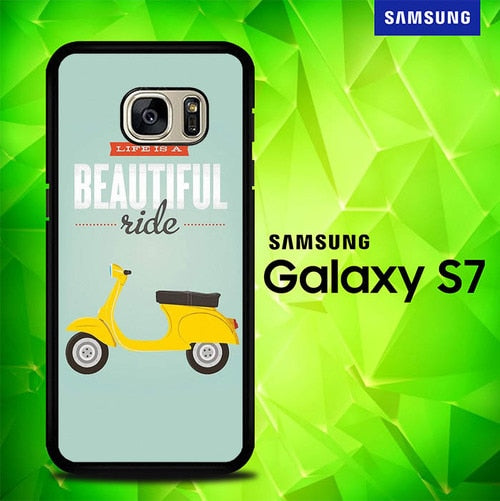 Life is a beautiful ride E1593 coque Samsung Galaxy S7