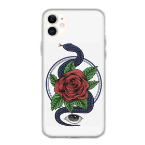 snake rose eyes coque iphone 11