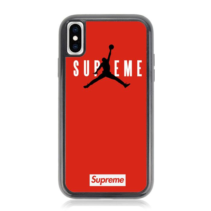 supreme jordan logo Z4157 iPhone X, XS coque