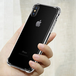 Étui pour iphone X XS XR Xs Max 8 7 6 6S Plus Fundas Capa de luxe protection transparente antichoc à