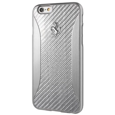 FERRARI Coque iPhone 7 PLUS 'GT EXPERIENCE' Carbone Argent