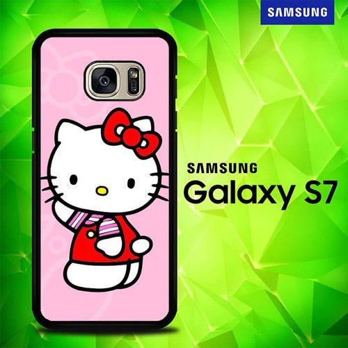 Hello Kitty P0208 coque Samsung Galaxy S7