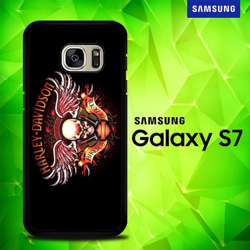 Harley Davidson Biker to The Bone P0239 coque Samsung Galaxy S7