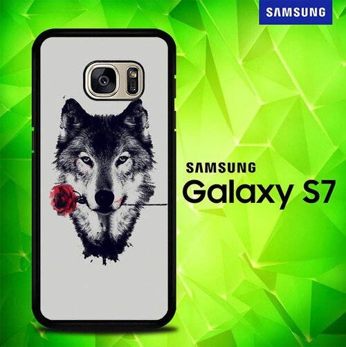 Wolf Rose P0423 coque Samsung Galaxy S7