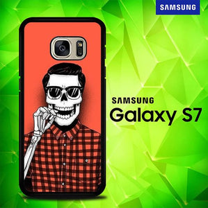Hell Yeah red Flanel P0442 coque Samsung Galaxy S7