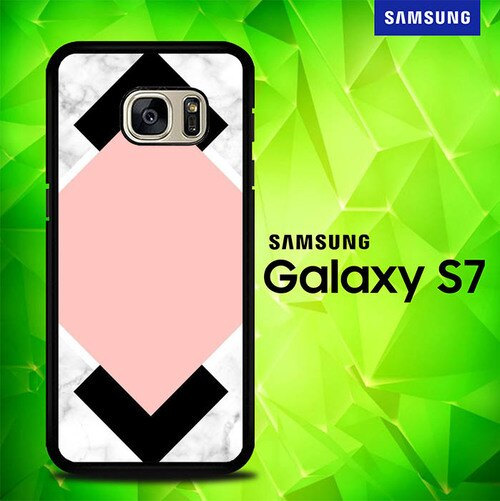 White Pink Art P0756 coque Samsung Galaxy S7