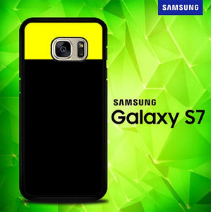 Black Yellow P0933 coque Samsung Galaxy S7