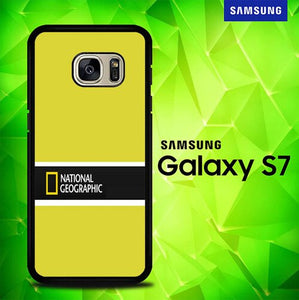 National Geographic Yellow P0995 coque Samsung Galaxy S7