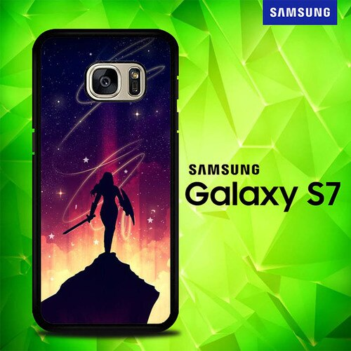 Wonder Woman Glow P1334 coque Samsung Galaxy S7